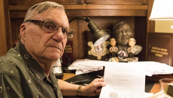 Former Maricopa County Sheriff Joe Arpaio received the news of his presidential pardon at his Fountain Hills home on Aug. 25, 2017.