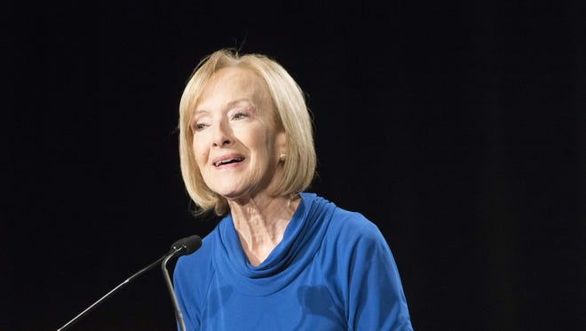 Walter Cronkite Award for Excellence in Journalism honoree Judy Woodruff speaks during the Annual Cronkite Luncheon held at Sheraton Grand Phoenix on Oct. 19, 2017.