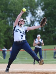 Pine Plains' Anna Lonczak pitches during Thursday's MHAL championship game versus Marlboro.