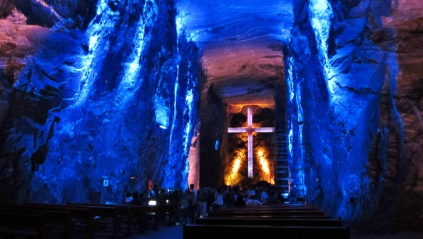 The Salt Cathedral of Zipaquira is a Roman Catholic
