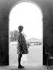 """A 1968 photo captioned """"Lost and alone"""" in the Knoxville"""