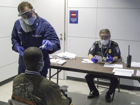 U.S. airport Ebola screening