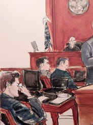 """A courtroom drawing shows alleged Silk Road """"darknet"""""""