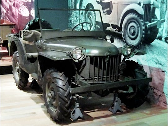 """Seventh (BRC) Bantam Reconnaissance Car; the """"Oldest Surviving Original Jeep,"""" on display at Heinz History Center, Pittsburgh, PA. (2015 Photo, S. H. Smith)"""
