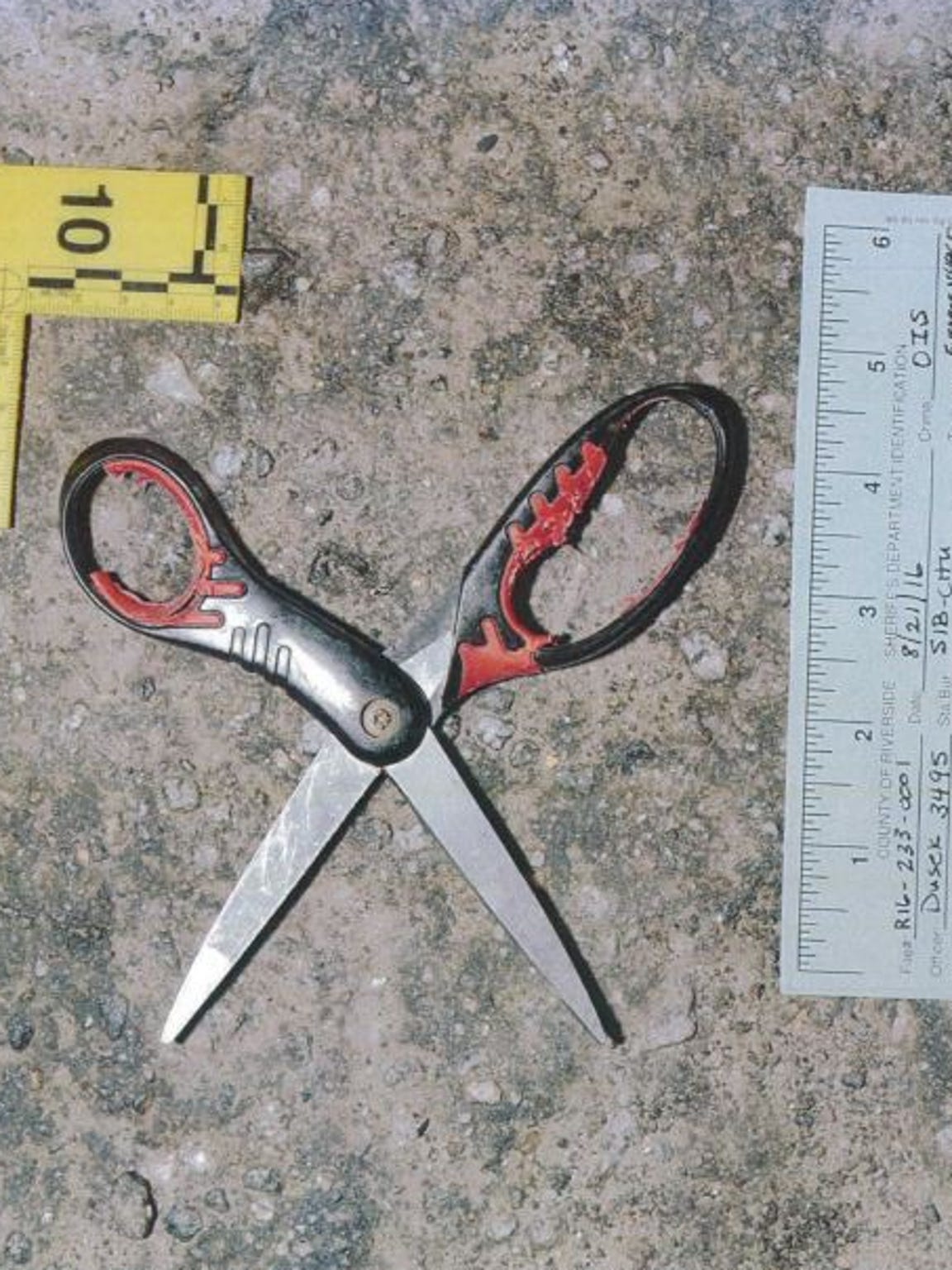 Indio police say Pedro Montanez was armed with this pair of scissors when he was fatally shot in August 2016.