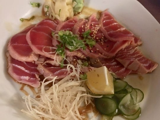 Goma Japanese Restaurant's tuna tataki was thin-sliced