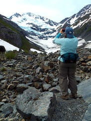 B.B. Hardbody photographs the Byron Glacier.