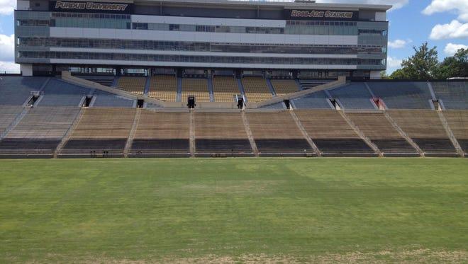 Ross-Ade Stadium turf July 24, 2014