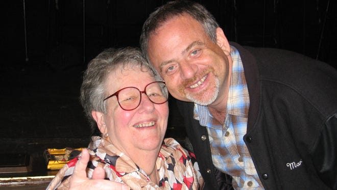 Dottie Stebbins with Marc Shaiman in an undated photo.