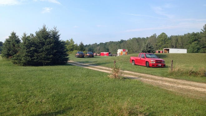 Crews are on the scene of a possible drowning on Van Fossen Road in Bennington Township.