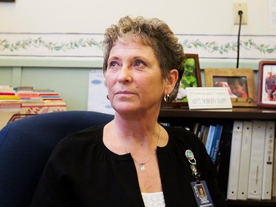 Principal Katherine Lawson of Dedham School, which
