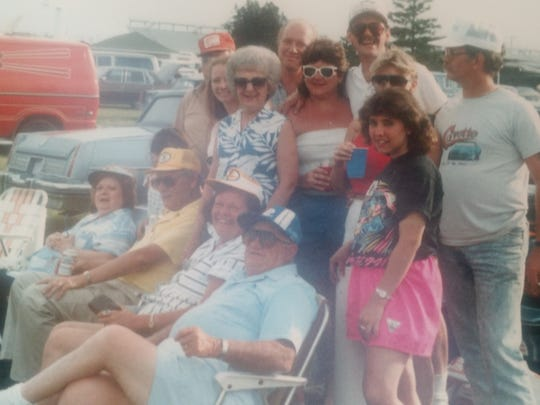 We are a 500 family. I went to my first 500 in 1967 with my grandfather. I've been going to the race ever since. In the 70's and 80s my Mom always wanted to celebrate her birthday and Mother's Day at the track. So we packed up the fried chicken, hard boiled eggs,, and ice cold drinks, and made our way to the middle of the backstretch. My daughter and I are traveling from Colorado Springs to come back to Indy for my 50th race.