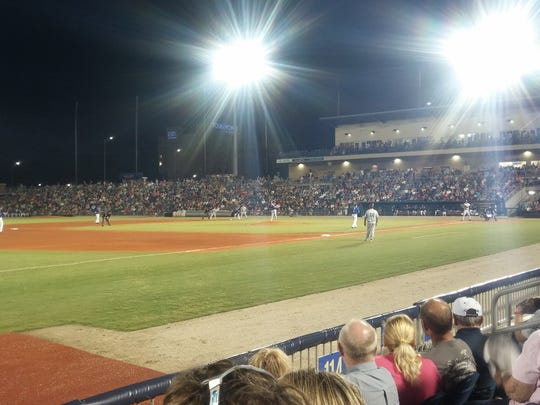 Catch a game at the Blue Wahoos Stadium.
