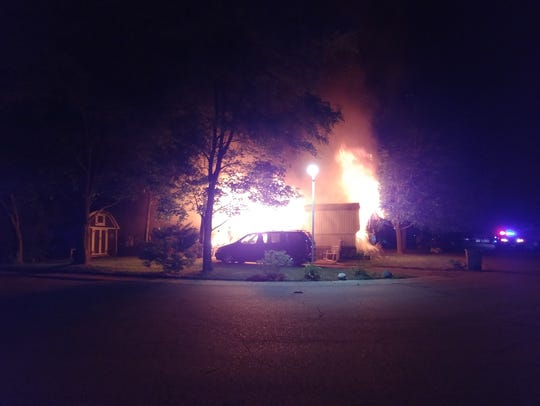 A South mobile home was destroyed by fire early Tuesday,
