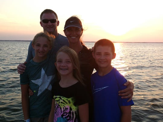 Reunited with family in Lavallette, New Jersey