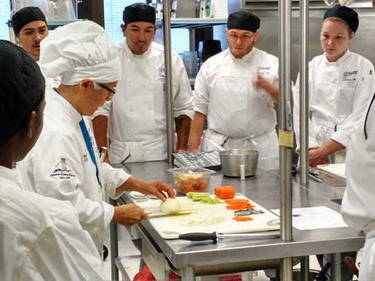 MATC culinary instructor Patricia Whalen demonstrates