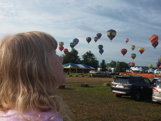 Caitlin Young at the balloon festival.