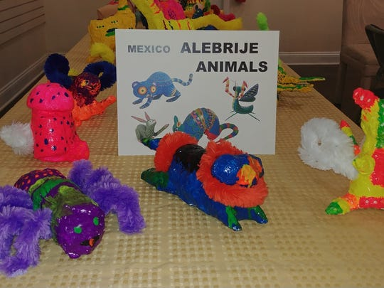 Children at the Cape Coral Art League made colorful animal sculptures based on a unit on Mexico.