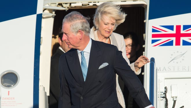 Prince Charlesand his wife Camilla Duchess of Cornwall, arrive at Andrews Air Force Base in Maryland on March 17, for a four-day visit to the US.