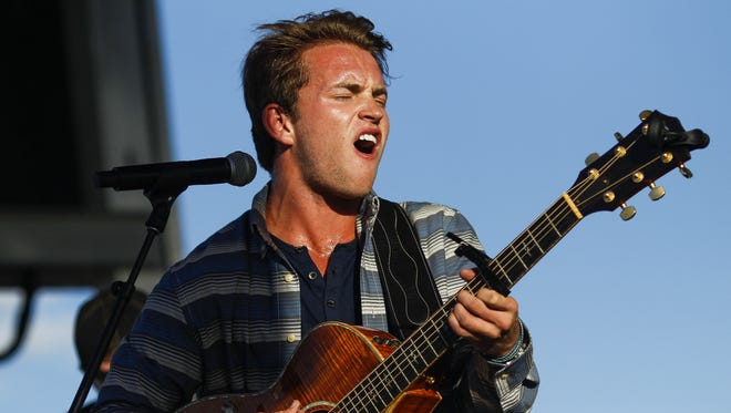 Tyler Dial performs during Day 3 of Country Thunder Arizona on Saturday, April 9, 2016, in Florence.