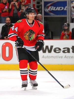 Kimmo Timonen has played nine games since being traded to Chicago.