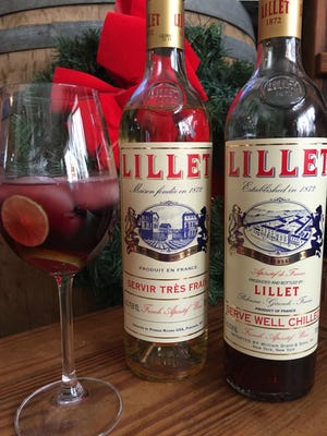 Lillet (pronounced Lee-LAY) comes in white, blush and red and is infused with a liqueur including herbs and fruits.  It's a French aperitif wine from the Bordeaux region.