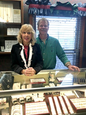 Wendy Jo and Timothy Kuhn pictured at A Touch of Gold in Mendon.