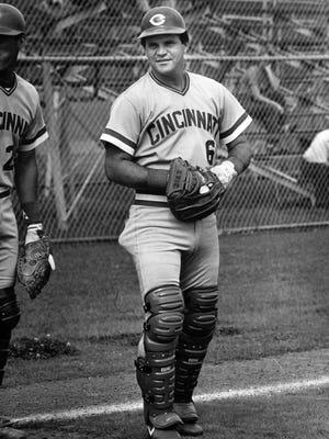 Reds catcher Bo Diaz in 1986.