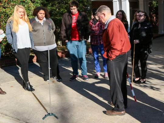 Robert Fries, professor of astronomy at Anderson University, talks about movement of the sun during a class this winter.
