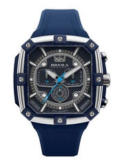The Brera Supersportivo Square Watch, Navy.