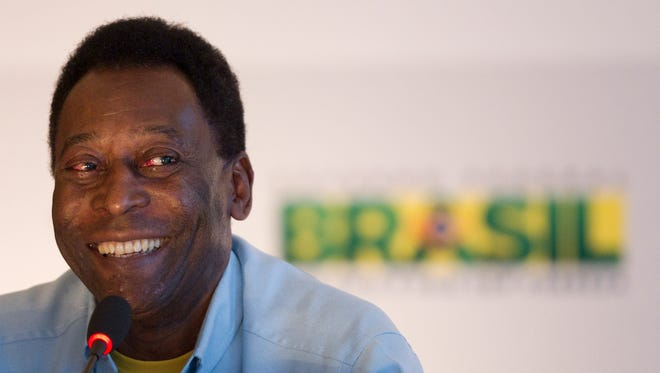 Brazil's soccer legend Pele, ambassador of the 2014 World Cup Brazil, speaks during a press conference ahead of the Preliminary Draw of the 2014 FIFA World Cup Brazil in Rio de Janeiro, Brazil, Friday, July 29, 2011.