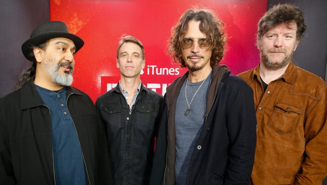 Soundgarden (from left, Kim Thayil, Matt Cameron, Chris Cornell and Ben Shepherd) will perform May 10 at the Farm Bureau Insurance Lawn at White River State Park.