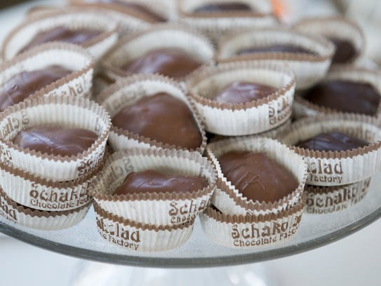Turtles, as made by Schakolad Chocolate Factory, at