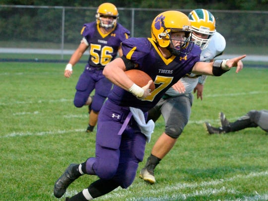 Hagerstown's Owen Golliher  has helped the Tigers to an 8-1 record.
