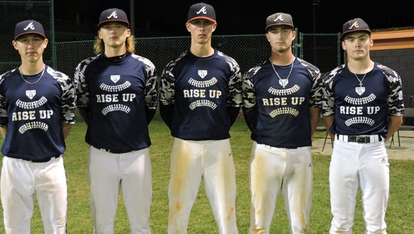 Pictured from left to right are Luke Tipton (Senior