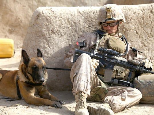 Cpl. Derrick Magee, 21, dog handler with 2nd Battalion,