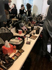 Just a little makeup backstage at the Zero + Maria Cornejo show during New York Fashion Week.