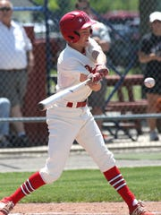 Plymouth's Walker Elliott stole five bases in a Big Red win last week against Crestline.