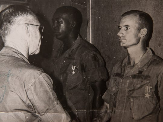 Byrd is awarded the Silver Star for his actions during an ambush at Ap Nhi.