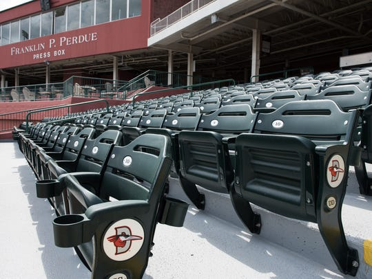 A view of the upper level seats at Arthur W. Perdue