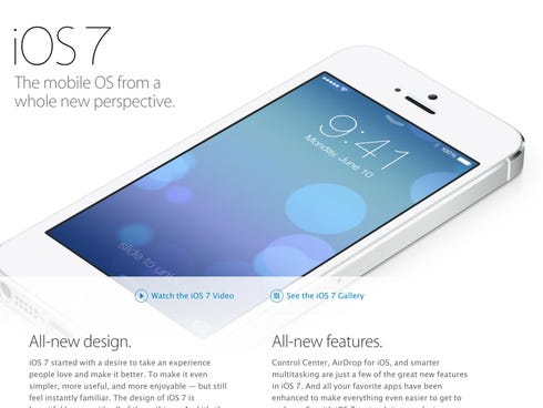 Apple's iOS mobile operating system has been redesigned.