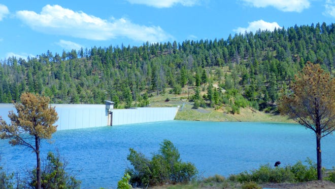 With the dam sealed to diminish leaks and aggressive diversions into the lake, Grindstone Reservoir may be filled in two years. The reservoir is the main water storage of Ruidoso.
