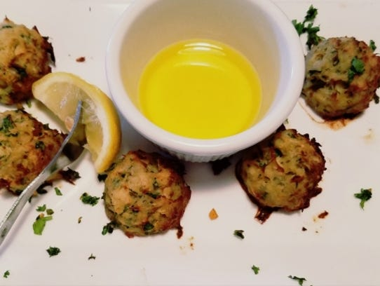 Palm City Grill's crab bombs were five small balls