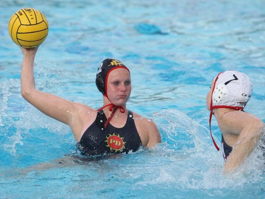 Palm Desert's Sarah Nichols (2) scored six goals for the Aztecs in Saturday's quarterfinals win against Chino.
