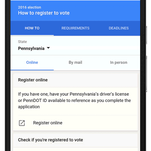 On Monday, Google is rolling out new features to give voters more information on voter registration and the national conventions.