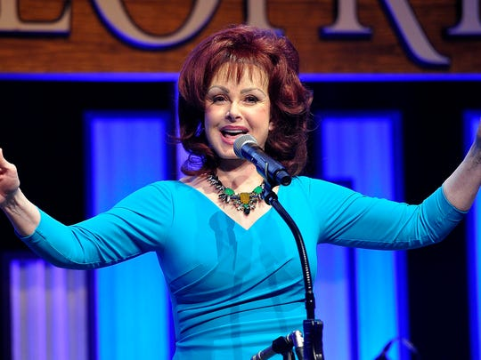 Naomi Judd talks about her memories during Joe Galante's roast at the Grand Ole Opry House. Tuesday Feb. 10, 2015, in Nashville, TN