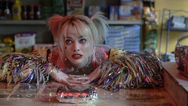 "Margot Robbie in, ""Birds of Prey: And the Fantabulous Emancipation of One Harley Quinn."""