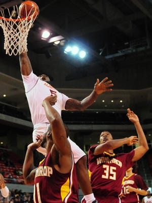 Cinmeon Bowers had 19 points and 17 rebounds in Auburn's 80-62 win over Winthrop.