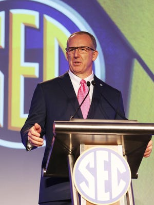 SEC Commissioner Greg Sankey said Monday the conference will continue to take a wait-and-see approach about the coronavirus with hopes of having more information to make a decision later this month.