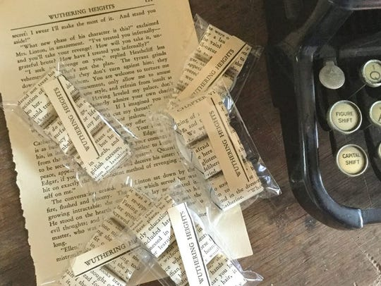 Nuggets wrapped in book pages.